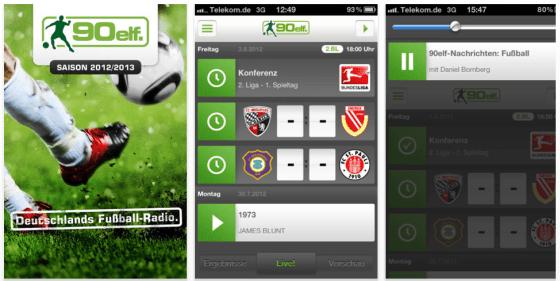 90elf bringt Fußball auf iPhone und iPod Touch