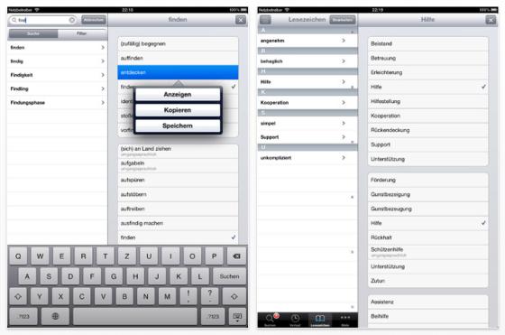 Synonyme Universal-App für iPhone, iPod Touch und iPad