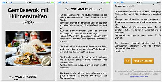 Bauchalarm Rezepte App für iPhone und iPad