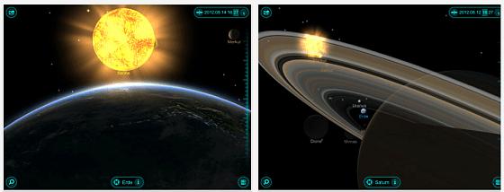 Solar Walk - 3D Sonnensystem Screenshots der App für iPhone und iPad