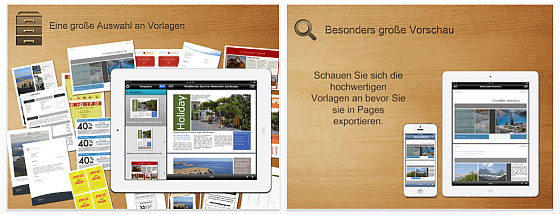 Vorlagen frür Pages Pro Screenshots