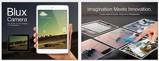 Blux Camera für das iPad Screens