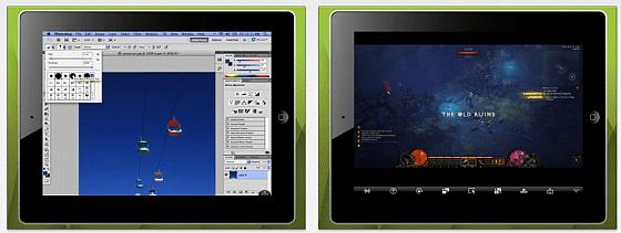 Splashtop Screenshots der iPad-Version