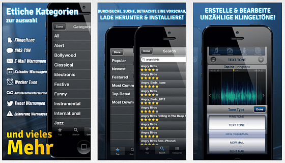 Klingeltöne für iOS 6