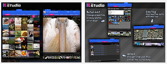 Flickr Studio Screenshots