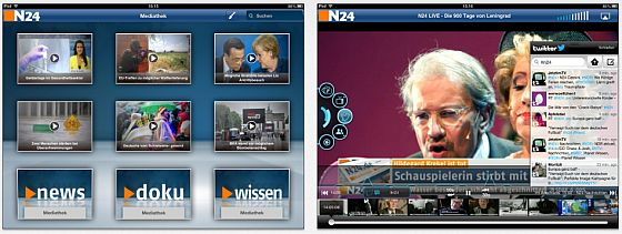 N24 nexT App screenshots