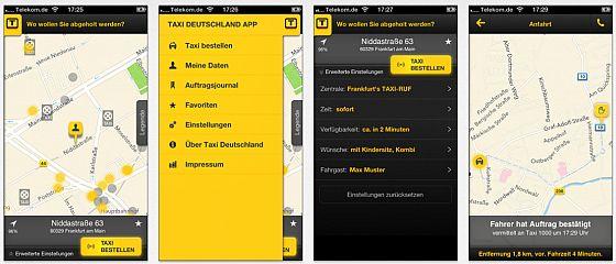 Screenshots Taxi Deutschland - App für iOS iund Android