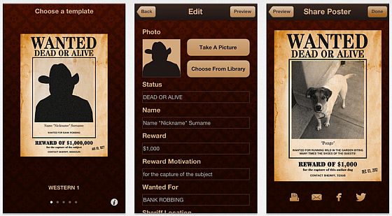 Wanted Poster Pro Screenshots