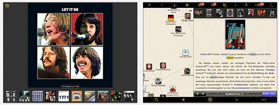 WikiLinks Screens auf dem iPad
