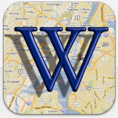 Wikipedia auf der Karte Icon