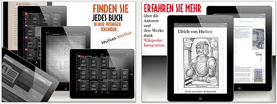 Mit Deutsche Bücher hast Du eine riesige Bibliothek griff- und lesebnereit auf Deinem Mobilgerät.