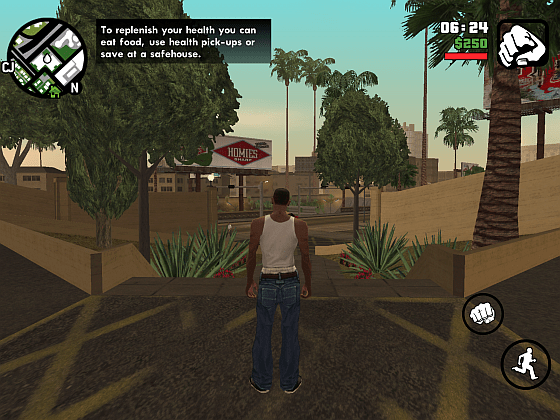 Carl wird in GTA San Andreas aus dem Krankenhaus entlassen