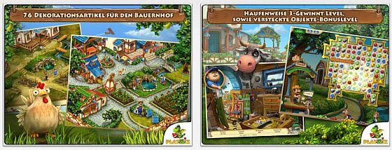 In Farmscapes HD hilfst Du Deinem Opa, seinen Bauernhof auf Vordermann zu bringen. Gute Match-3 Spiele, etwas Wimmelbild und Kombinationsrätsel bilden einen bunten Strauß an Spielinhalten, die Dich fesseln werden.