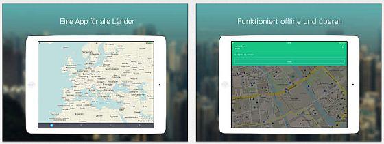 MAPS.ME - offline Karten Screens