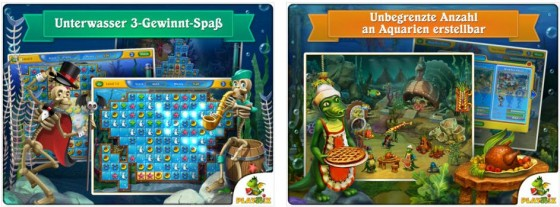 In Fishdom Seasons under the Seas rüstest Du mit Deinen Gewinnen aus Match-3 Spielen Dein Aquarium aus. Dabei sollst Du gleichzeitig genug Fische, eine schöne Ausstattung und Komforteinrichtungen einsetzen, um weiterzukommen.