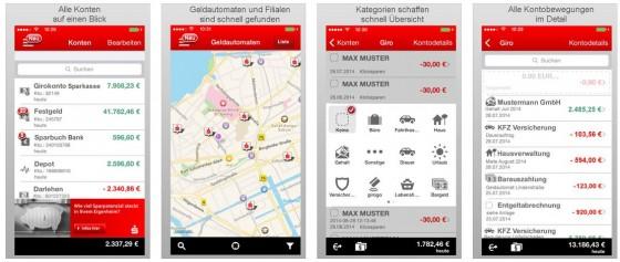 Aufgeräumt und mit allen Funktionen, die man im Mobile-Banking braucht: Die Sparkasse+ App.