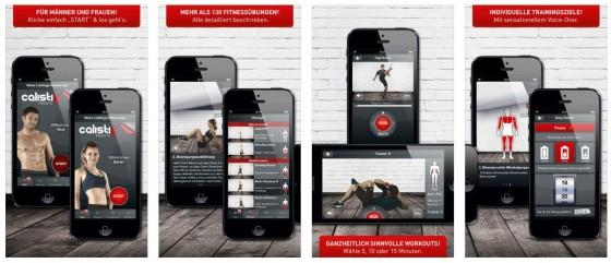 Die App enthält rund 200 verschiedene Übungen für alle Muskelgruppen, die man sich auch auch selbst zusammenstellen kann. Oder man folgt dem Trainingsplan, der von der App vorgeschlagen wird.
