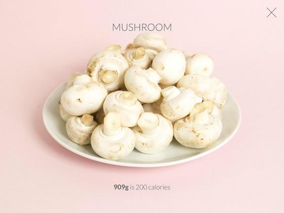 200 Kalorien in Form von Champignons...