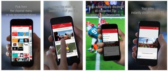 Flipps HD findet automatisch alle Fernseher in Deinem WLAN und streamt die von Dir ausgewählten Videos auf den Fernseher.