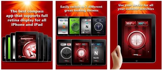 Mit Kompass++ Pro kannst Du den Kompass auf dem iPhone oder iPad Deinen Designwünschen anpassen.