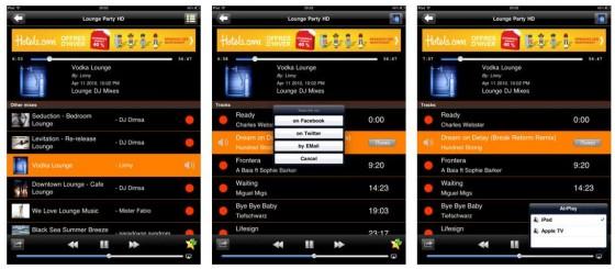 Mehr Musik, als Du jemals hören kannst: die mix.dj Apps streamen Tracks von Djs aus ganz Europa. Was Dir besonders gefällt, kannst Du bookmarken oder teilen. Die App unterstützt auch Airplay.