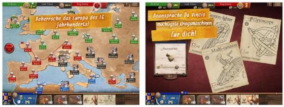 """Das Spiel Magnifico für das iPad basiert auf dem Brettspiel """"Da Vinci's Art of War - Magnifico"""" von Spartaco Albertarelli"""