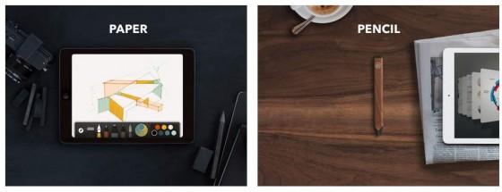 Paper by Fiftythree funktioniert auch ohne Bluetooth-Stift, die Entwickler meinen aber, dass die Ergebnisse bei Verwendung des Stiftes noch besser werden.