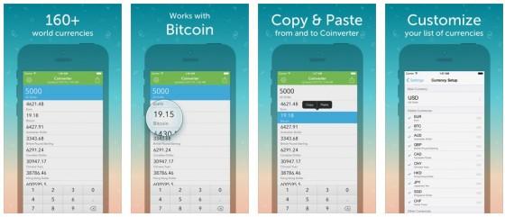 Mit Coinverter hast Du die aktuellen Wechselkurse immer auf dem iPhone dabei.