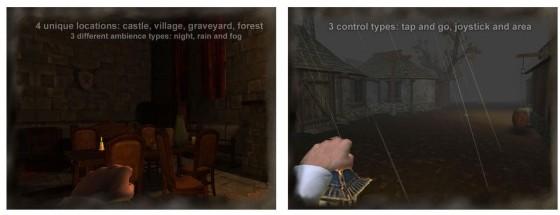Das Grusel-Spiel Slender Man Origins bietet vier Szenen, für die man das Wetter und die Tageszeit einstellen kann. Und dann gibt es noch zwei Schwierigkeitslevel. Meine Empfehlung: Starte mit Normal...