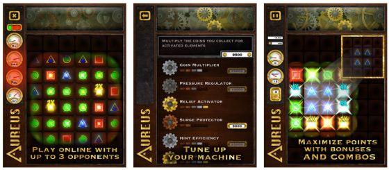 Eine Goldmaschine mit ganz besonderen Eigenschaften, das ist der Aureus, den Du in diesem Spiel bedienst.