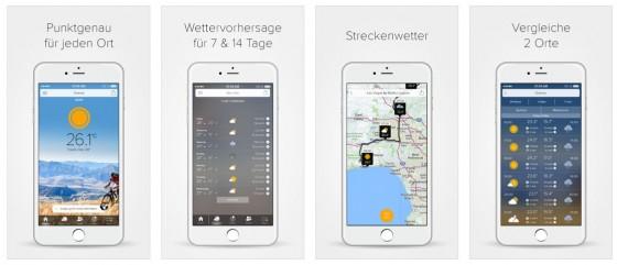 Die Wetter-App Morecast bietet alles, was man braucht und kommt in einem frischen, angenehmen Design.