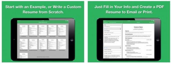 Mit Smart Resume PRO erstellst Du sehr komfortabel Deinen Lebenslauf für Bewerbungen. Die App ist zwar in englischer Sprache, kann aber mit wenig Aufwand auch deutschsprachige Lebensläufe herstellen.