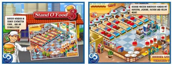 Auch mit Stand O'Food 3 wirst Du wieder zum Burger-Architekten. Das Spiel startet sehr leicht, wird dann aber schwerer.