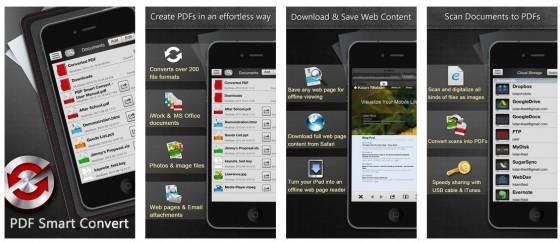 Alle möglichen Dateien komfortabel in PDF-Dateien umwandeln - das kann PDF Smart Convert für iPhone und iPad.