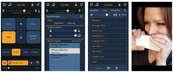 Verwandle Deine Stimme in die Töne eines Musikinstruments. Inbegriffen ist die Panflöte, weitere Instrumente kannst Du dazubuchen, wenn es Dir gelingt, Töne aus der App zu bekommen.