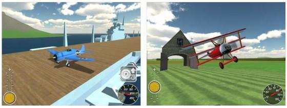 Mit Pocketwings kannst Du ganz entspannt durch eine Insellandschaft fliegen und unterwegs auch kleine Herausforderungen (wie die Scheune) finden.