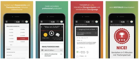 Die App The SimpleClub fasst nicht nur die verschiedenen Youtube-Kanäle zusammen, sondern bietet auch als Premium-Angebot Aufgaben, Lösungswege und Klausuren.