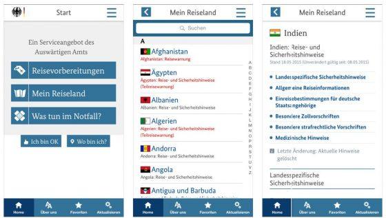 Alle Infos für eine sichere Reise in einer App: Sicher reisen bietet eine Menge Infos zum Reiseland und wird regelmäßig aktualisiert, wenn es etwa Reisewarnungen gibt.