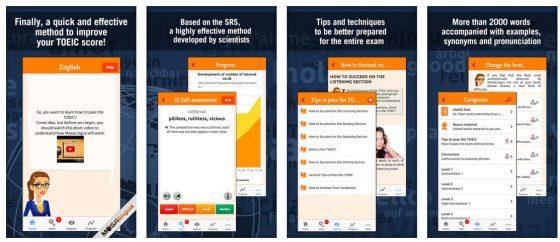 Nützliche App: Selbst wenn Du an keinem TOEIC Test teilnehmen musst oder willst, kannst Du mit dem Englisch-Trainer Deine Englisch-Kenntnisse deutlich verbessern. Mosilingua verspricht: Mehr als 5 - 10 Minuten pro Tag brauchst Du nicht.