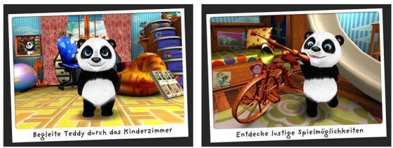 Besonders niedlich: Wenn man Teddy antippt, passiert immer etwas. Aber auch die Gegenstände im ganzen Kinderzimmer bergen so manche Überraschung...