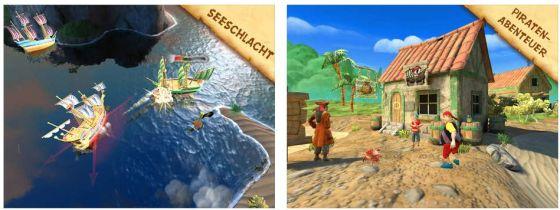 Piratenabenteuer mit Minispielen bietet Käpt