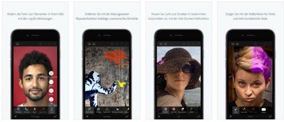 Für die schnelle und unkomplizierte Bearbeitung von Bildern gemacht: Adobe Photoshop Fix ist ideal für Smartphines und Tablets.