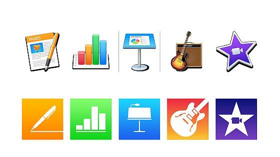 Fünf Apps für den Mac und fünf Apps für iPhone und iPad: Pages, Numbers, Keynote, GarageBand und iMovie sind jetzt für alle Nutzer gratis.