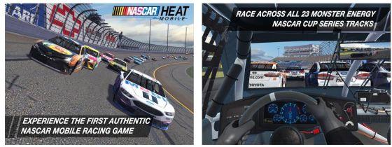 Für Mobilgeräte gut gelungen ist das neue NASCAR Heat Mobile Spiel.
