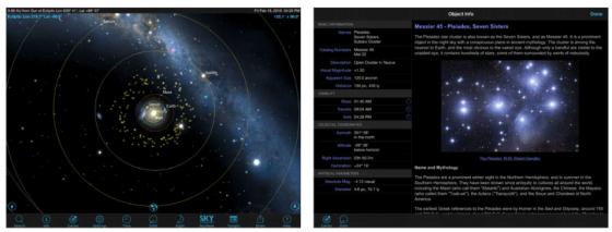 SkySafari 5 ist ein guter Begleiter für Sternstunden. Die App zeigt Dir, was Du am Himmel siehst und liefert Namen und Hintergrundinfos zu allen Himmelskörpern.