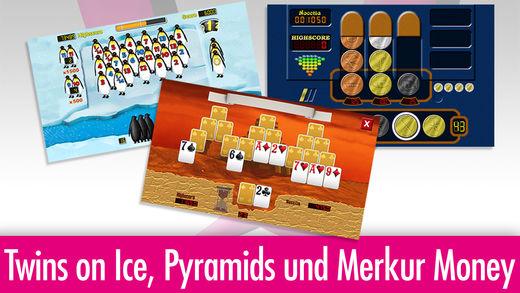 Die Spielesammlung Merkur eCup enthält insgesamt acht Spiele.