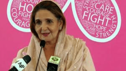 Samina Alvi inaugurates breast cancer awareness Helpline