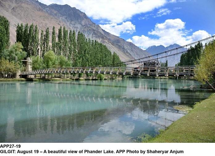 GILGIT: August 19 – A beautiful view of Phander Lake. APP Photo by Shaheryar Anjum