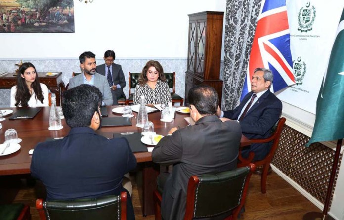 LONDON: August 25 - High Commissioner of Pakistan to the UK, Muhammad Nafees Zakaria chairing PTEN Roundtable at the Pakistan High Commission. APP