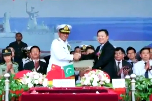 Pakistan Navy gets latest T-054 A/P Frigate; launching ceremony held in China